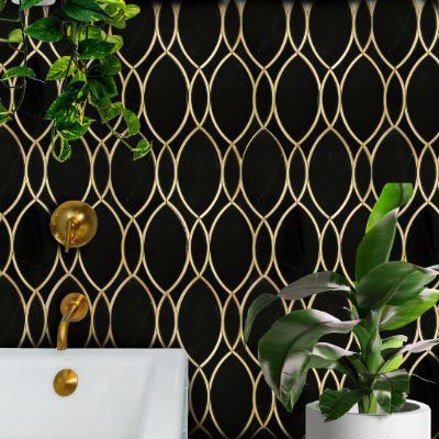 Nero Marquina + Genuine Brass Inlay